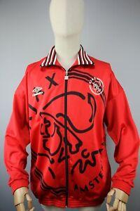 UMBRO AJAX Vintage 1995/96 Mens Tracksuit Top Football Red Zip Jacket Size L