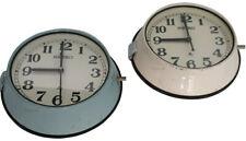 Blue Cream Analogue Vintage Wall Clocks Seiko Retro Antique Quartz (Set of 2)