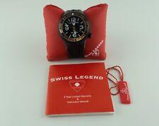 Swiss Legend Men's Neptune Dive Watch Black Silicone Strap