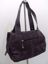 C H BASS & Company Pebbled Leather Purple Handbag Purse - VGC