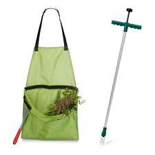 2 tlg Gartenarbeits Set Unkrautstecher ergonomisch Ernteschürze Gartenschürze