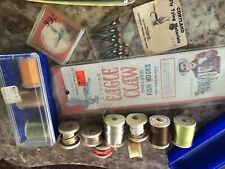 New listing Vintage Fly Tying Vise Supreme Materials Lot