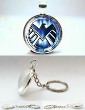 Avengers - Agent of SHIELD - Silver Tone Photo Glass Dome Keyring