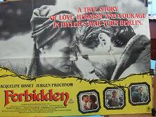 Jurgen Prochnow Jaqueline Bisset FORBIDDEN(1984)Original UK quad cinema poster
