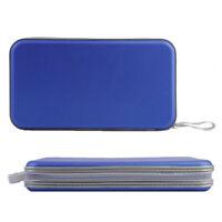 Zipper 80 Pcs Disc Capacity DVD CD Case for Car Media Storage Bag Wallet Blue