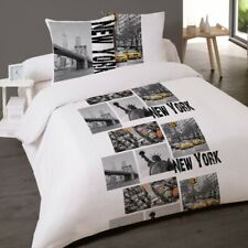 Housse de couette NEW YORK SKYLINE 200 x 200 +2 Taies Coton 100%