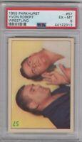 1955 Parkhurst Wrestling #57 Yvon Robert Graded PSA 6