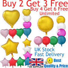 """18"""" Heart Star Round Shape Float Helium Foil Balloons For Party Birthday Wedding"""