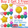 "18"" Heart Star Round Shape Float Helium Foil Balloons For Party Birthday Wedding"