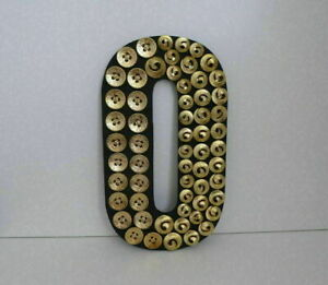 Wooden Letter O with Gold Buttons - Monogram Wall Art