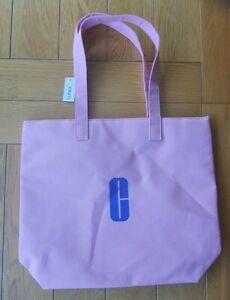 Clinique beach bag/travel bag mauve polyester 30x10x32cm New