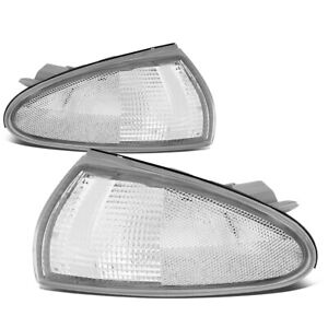 Fit 1993-1996 Mitsubishi Mirage 2Dr Front Bumper Corner Light Turn Signal Lamps
