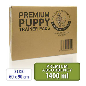 100 Tendercare 60x90 cm Premium Extra Large Puppy Training Pads.