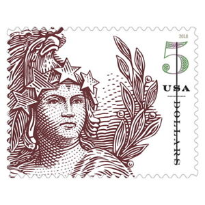 USPS New $5 Statue of Freedom Pane of 4