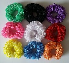 9 x Colourful hair band elastics ponytail holder Beaded hair bobbles Scrunchy