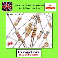 1st CLASS POST 1//4W 50 x 1 Ohm Carbon Resistor 1R Resistors