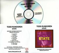 TODD RUNDGREN State 2013 UK 10-track promo test CD