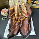 100 Pure Satin Silk Wrap Scarf Bandanna Shawl Belt Hand roll Kerchief 110x110cm
