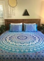 Handmade Donna Cover Quilt Cover Bohemian Bedding Indian Mandala Duvet Cover