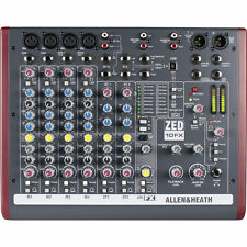 Allen & Heath ZED-10FX 10-Channel USB Mixer with Effects New
