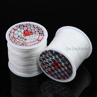 80Meters White Crystal Stretch Elastic Beading Cord Thread Wire Repair Findings
