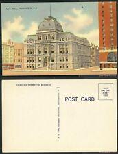 Unused Linen Postcard-Rhode Island-City Hall, Providence, R.I. #37 & #11667