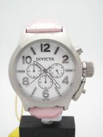 Invicta Corduba Ladies Stainless Steel White Chrono Dial Pink Strap Watch 1142
