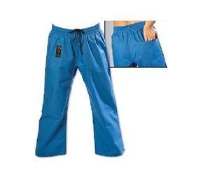 ProForce Combat Karate PANTS SALE! Martial Arts Taekwondo Training Uniform BLUE