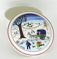 Vintage Villeroy & Boch NAIF CHRISTMAS Candy Dish Trinket Box Vitro-Porcelain