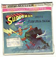vintage GAF View Master SUPER MAN 3 reel set DC COMICS krypton CLARK KENT Lois !