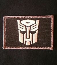AUTOBOT TRANSFORMERS USA  ARMY SWAT VELCRO® BRAND FASTENER MORALE PATCH
