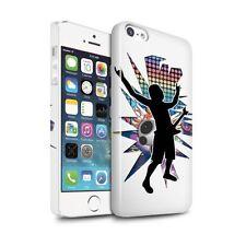 Housses et coques anti-chocs blancs brillants iPhone 5 pour téléphone mobile et assistant personnel (PDA)
