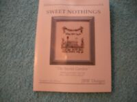 """1 NEW SWEET NOTHINGS """"THE SECRET GARDEN"""" COUNTED CROSS STITCH KIT"""