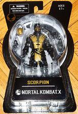 "MORTAL KOMBAT X MEZCO 2015 GOLD VARIANT SDCC SCORPION NINJA 6"" PS4 XBOX SHAOLIN"