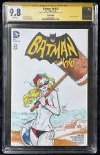 Batman '66 #23 CGC 9.8 Sketch Cover Signed by Chris Johnson - Sexy Harley Quinn