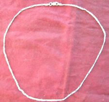 "17 "" Sterling Silver Chain Necklace .925 Italy 3.7 Grams"