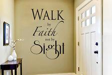 Walk By Faith Not By Sight Vinilo Pegatinas De Pared Adhesivo Decoración