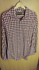 Timberland Lightweight Flannel Men's Size L/G Red and White
