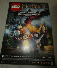PS3 lord rings Hobbit Lego lotr Promo poster A2 size double sided shop display