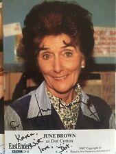 Hand Signed June Brown Fancard Dedicated