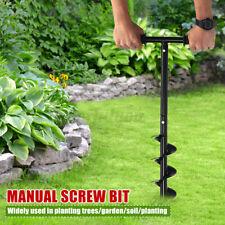 Digger Post Hole Hand Drill Bit Digger Earth Power Auger Spiral Garden 60cm NEW