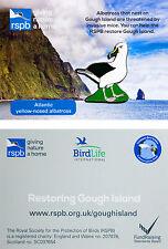 RSPB Pin Badge | Yellow Nosed Albatross | UKOT Gough Island conservation [01280]