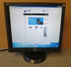 "ViewSonic VA903B 19"" Black LCD TFT LED Flat Screen PC Monitor VGA"