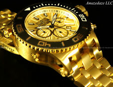 NEW Invicta Mens SAS Chronograph 18K Gold Plated Stainless Steel 500M Watch!!