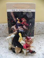 Hallmark 1995 Learning to Skate Folk Art Americana Penguin Christmas Ornament