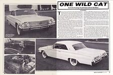 1962 BUICK WILDCAT 401  ~  GREAT 2-PAGE ARTICLE / AD