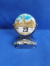 Metal souvenir desk perpetual eternal calendar Munchen Munich Germany