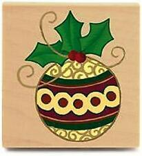 Stampabilities Rubber Stamp * Holly Ornament *   RG1062