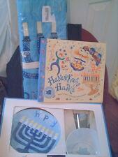 Pottery Barn Kids Hanukkah Countdown Calendar Book Dishes (3) items NEW
