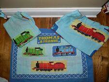 Vintage Thomas & Friends Train Twin Sheet Set Fitted Flat Standard Pillowcase